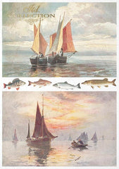 Sea Stories  - Creative Rice Paper Set ,   Papers , Stencils and Foils, all co-ordinated