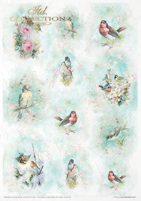 Shabby Chic for Spring - Creative Rice Paper Set ,   Papers , Stencils and Foils, all co-ordinated