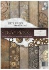 Steampunk - Creative Rice Paper Set ,   Papers , Stencils and Foils, all co-ordinated