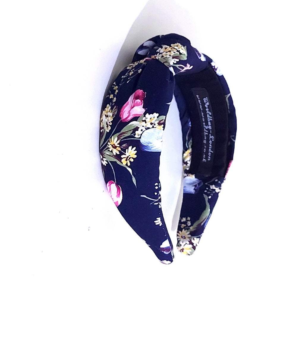 Twist Knot Padded Cotton Floral Headband for Women