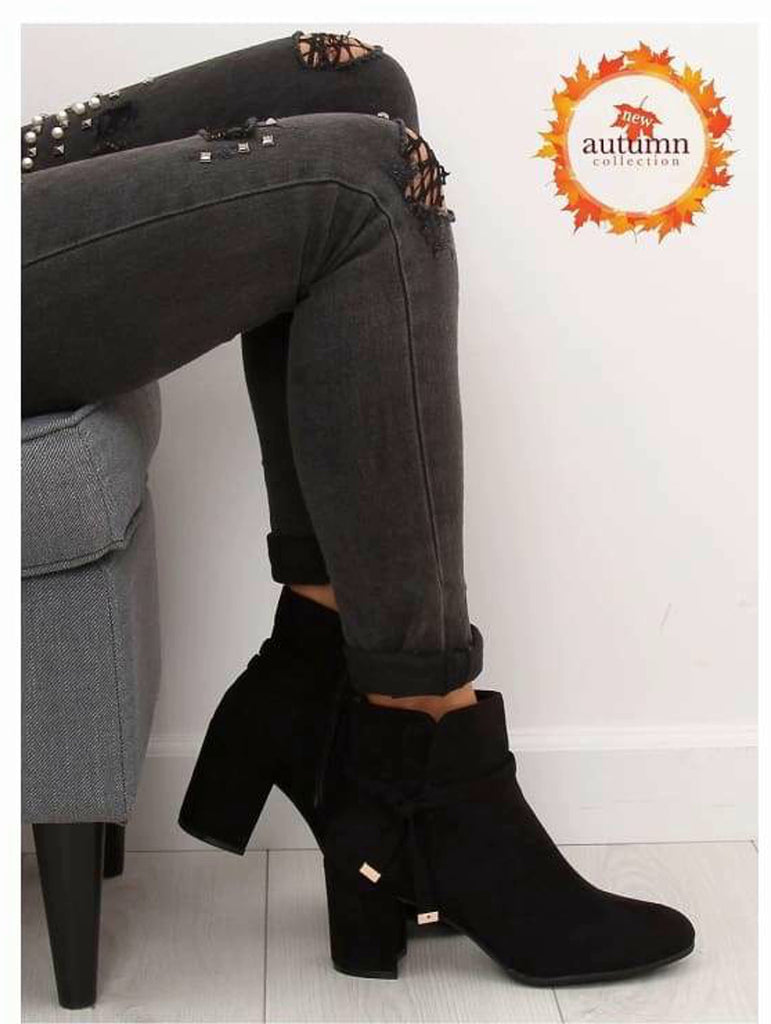 Ankle Heel boots with straps - Footwear Ankle boots, black, black boots, black shoes, block heel boots