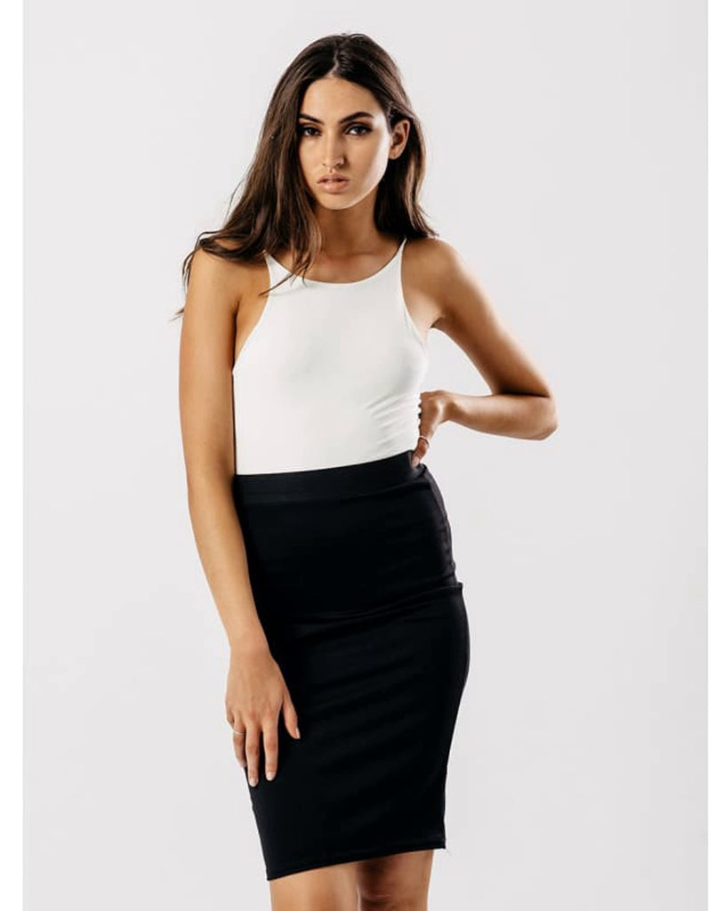 Black Bodycon Pencil Skirt - Mini