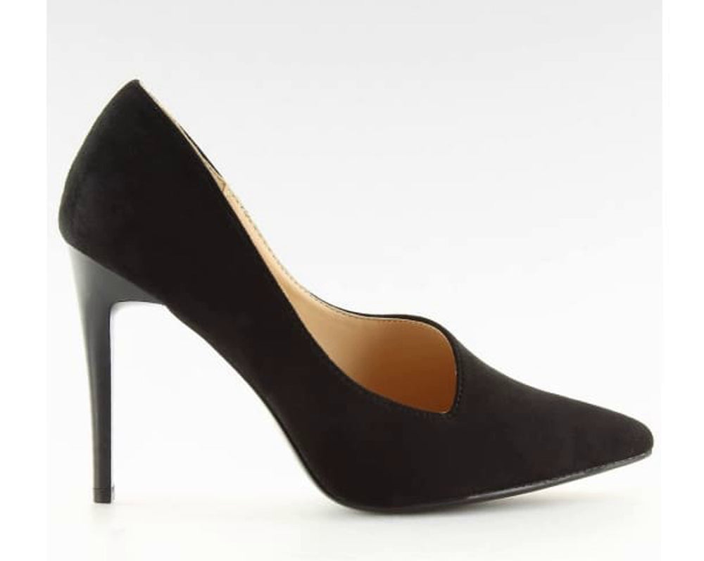 Black High Heels Court Shoes - Footwear black, black shoes, Court shoes, evening footwear, High heels