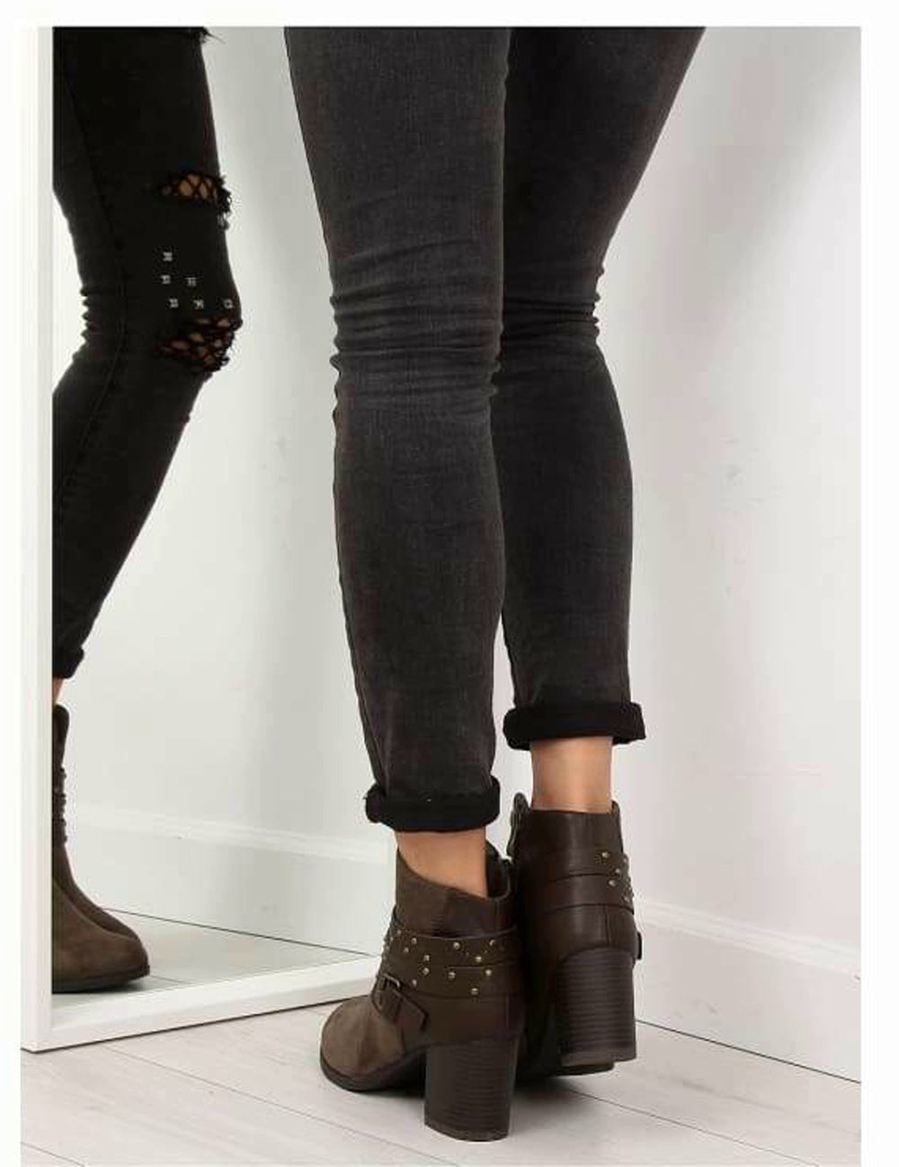 Block Heel Ankle Boots - Footwear Ankle boots, block heel boots, boots, Brown boots, Footwear