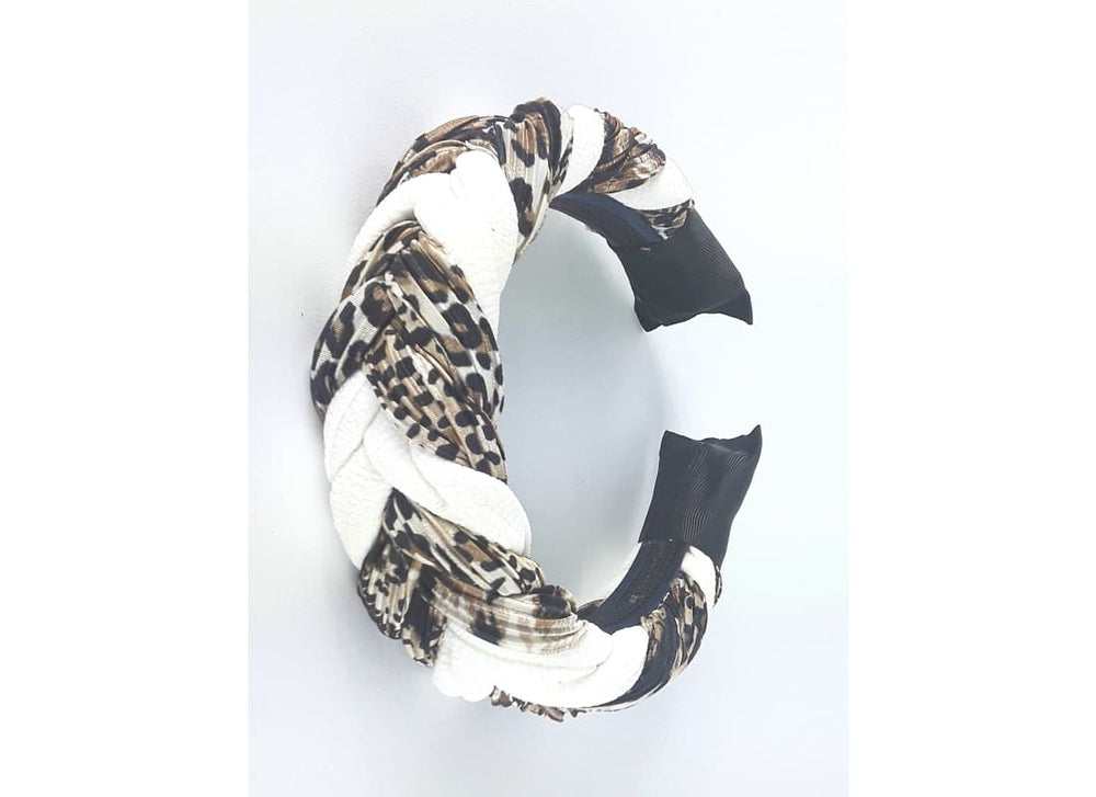 Braided Chunky Headband - Headbands Animal Print Headband, Black Headband, Braided Headband, Chunky Headband, Hair Accessories