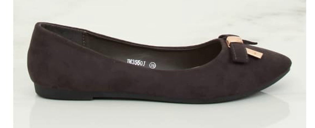 Brown Flat Ballerina Pumps - Footwear Ballet, ballet flats, Ballet flats Inello (128376), Ballet Pumps, ballet pumps for women