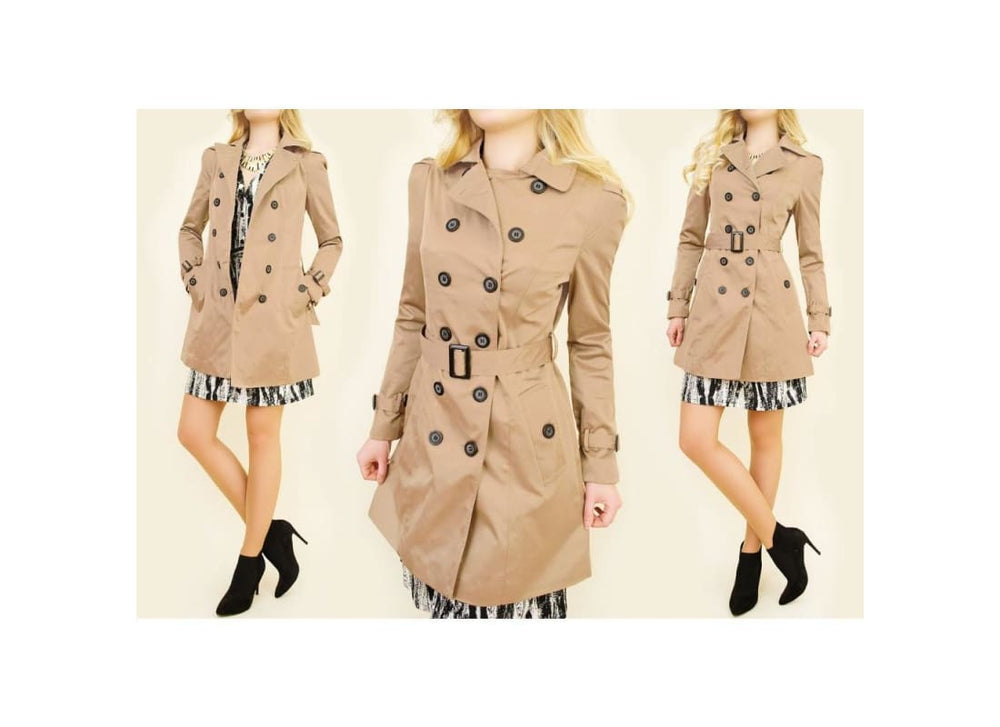 Double Breasted Trench Coat - Coats & Jackets coats jackets plus size plus size clothing plus size coats and jackets