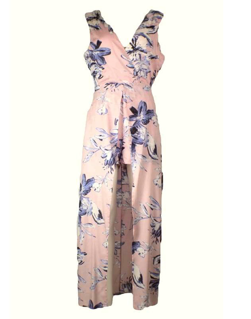 Floral Tie Back Maxi Dress with Shorts