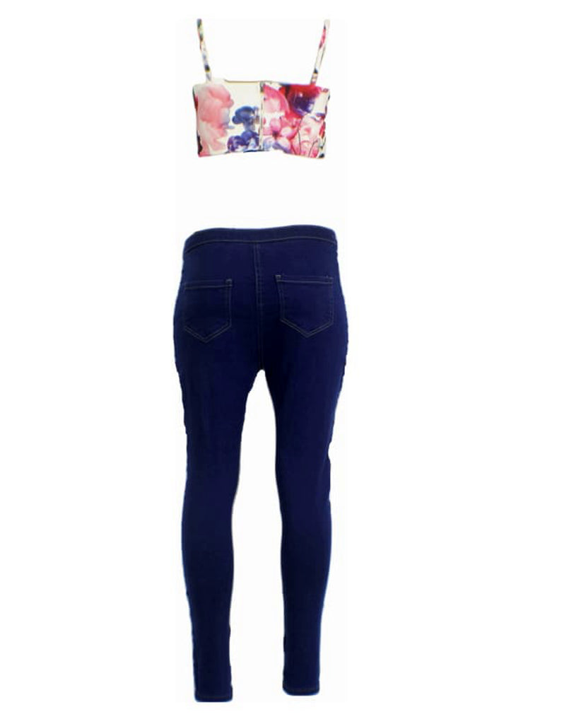 Front Lace-Up skinny Jeans Trousers - 6 / Blue - Jeans & Jeggings fItted pencil jeans fitted trousers Lace Up jeans plus size plus size