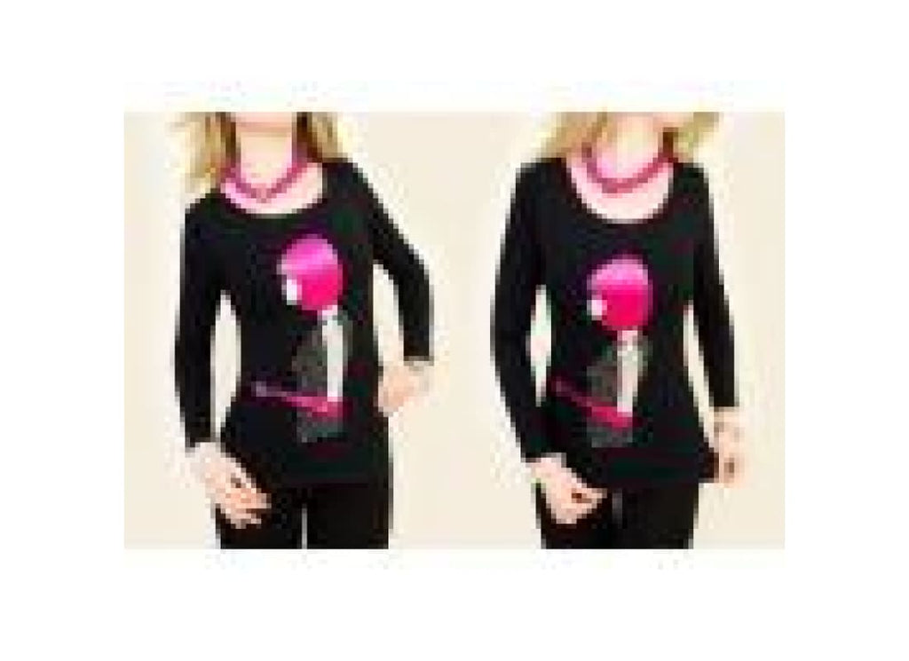 Layer look embellished Chic T-Shirt - Tops & Shirts 2xl tops black black tops blouses blue tops