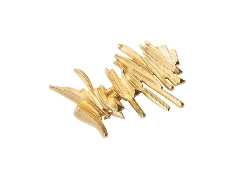 Multi Layer Vertical Bar Hairpin - Gold - Hair Accessories Bags & Accessories Banner Barrette Gold Ruffle Hair Clip Hair Accessories Hair