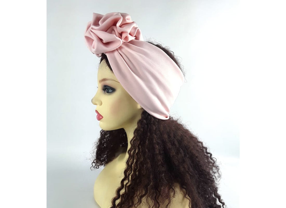 Pink Ruffle Headband, Women's Wide Headband