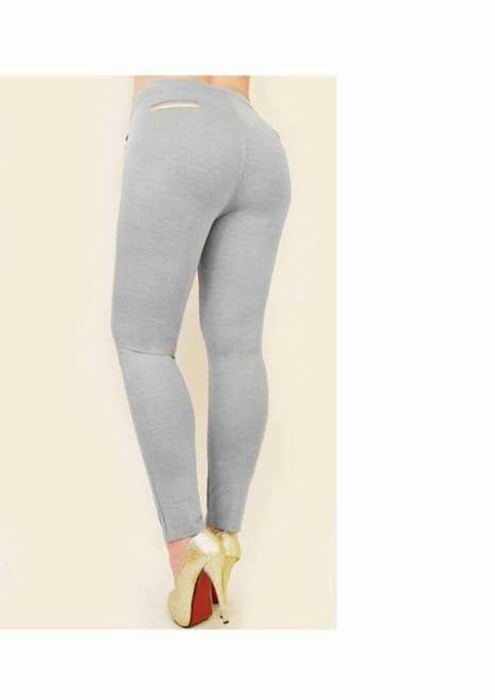 Plus Size High Waisted Leggings With Pockets - 2XL/3XL / Grey - Trousers & Shorts 2XL 3XL 4XL 5XL 6XL
