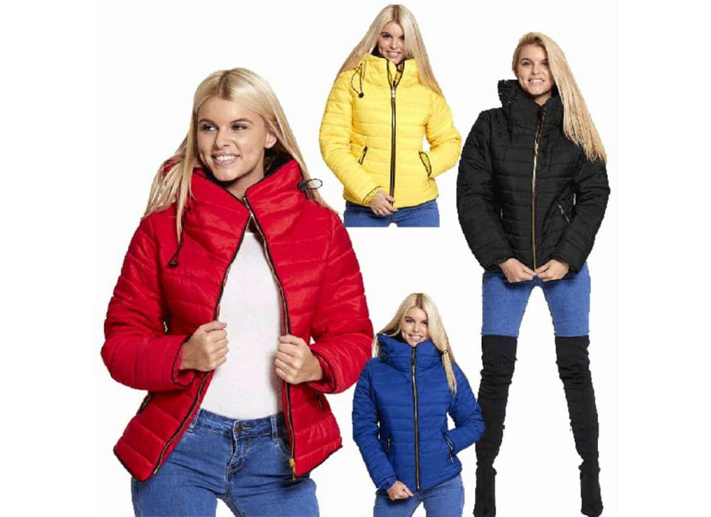 Plus size Quilted Padded Puffer Bubble Fur Collar Jacket - 16 - Coats & Jackets 363 363 + black black jacket padded jackets