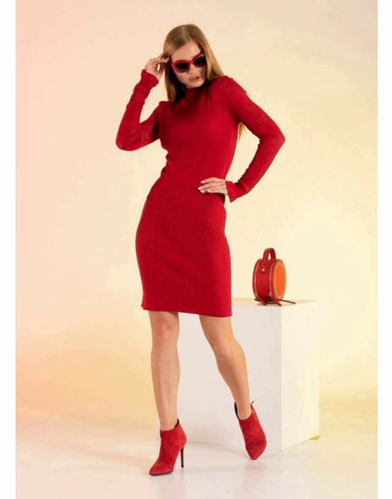 Pointelle Knit Mini Bodycon Dress - Knitwear body hug dresses bodycon dress dresses dresses for women knitwear