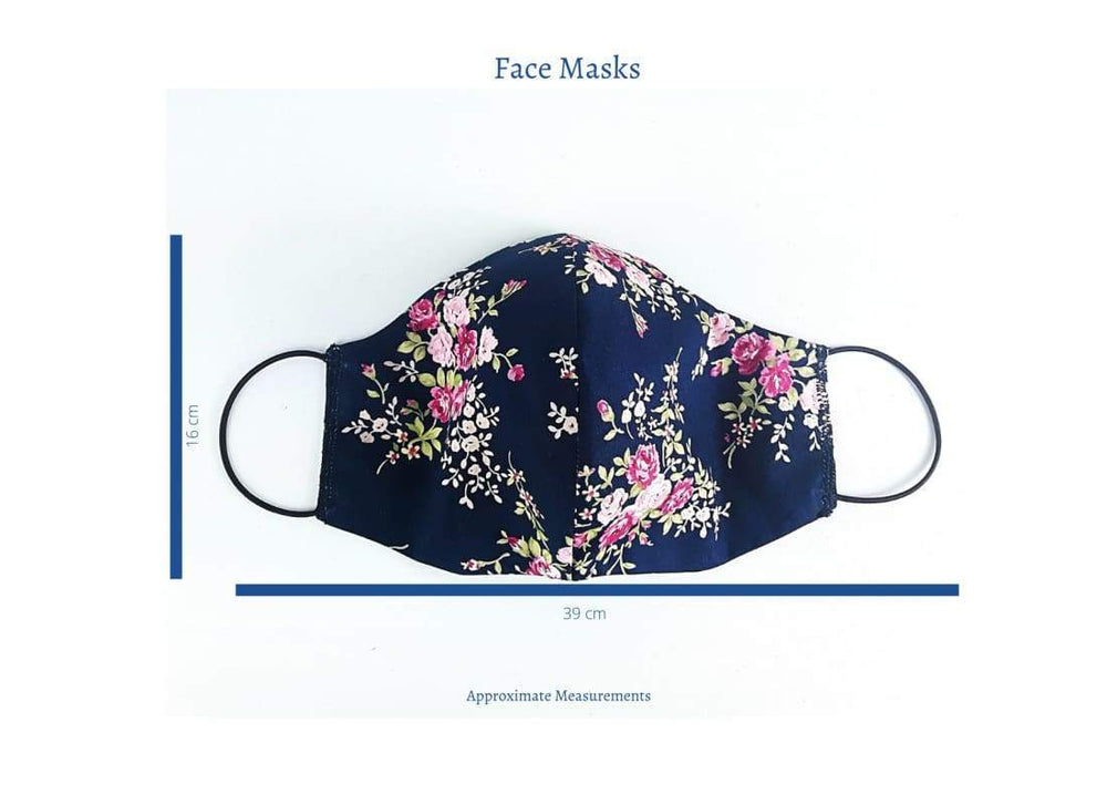 Washable Adult Face Mask - Face Masks Adult Face Masks, Cotton Face Mask, Cream Floral, fabric face mask, Face Mask