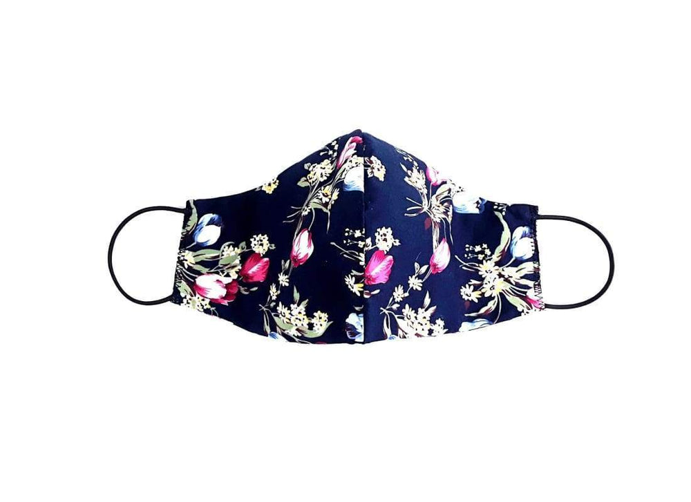 Protective Unisex Reusable Floral Cotton Face Mask - Face Masks Adult Face Masks, Washable Facial Mask, Cream Floral, fabric face mask, Face Mask  Edit alt text
