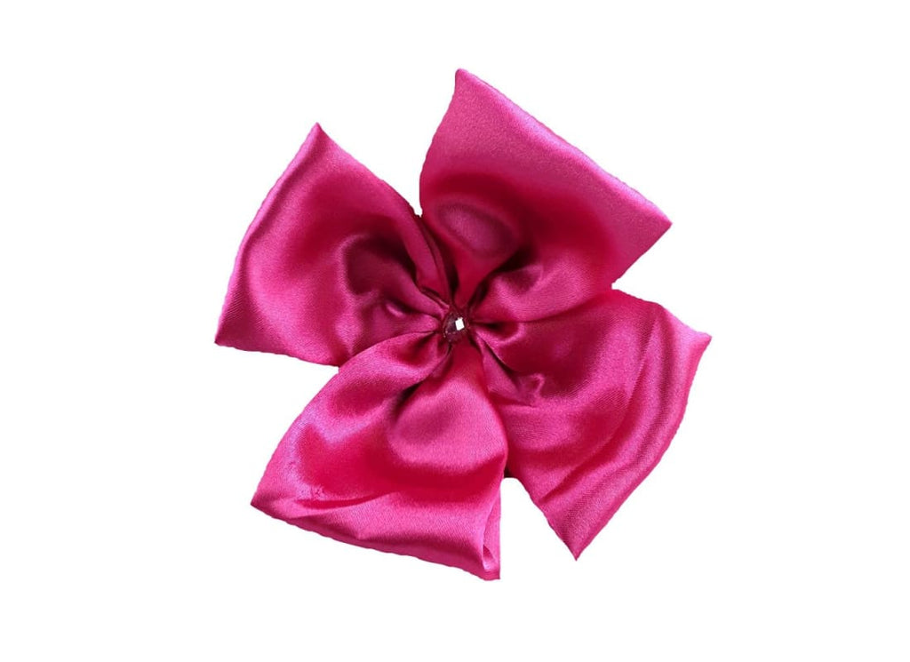 Satin Scrunchie with Flower Detail - Handmade Bags & Accessories Hair Accessories Hair Jewellery Hair Tie Handmade Ponytail Holder Hair Tie