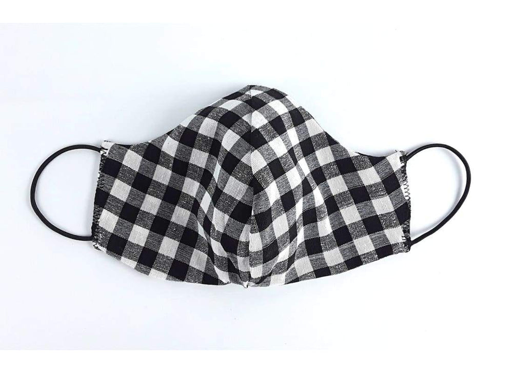 Washable Plaid Cotton Face Mask -   Reusable Cotton Face Mask, Handmade, Double Layer Face Mask