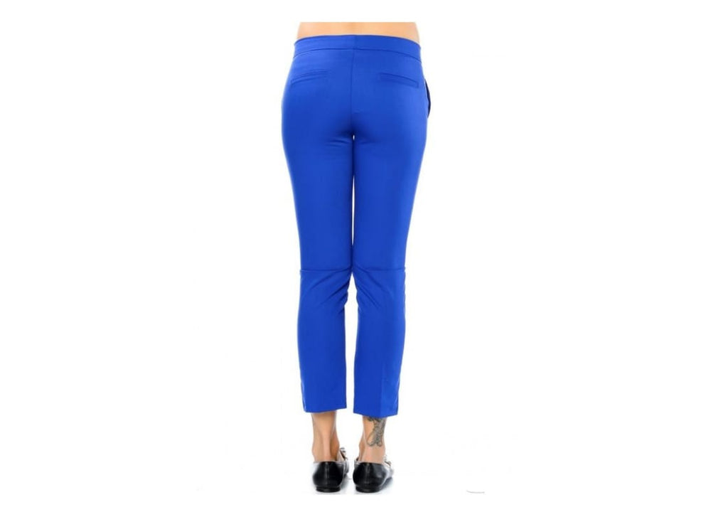 Womens Royal Blue Tapered Trousers - Trousers & Shorts blue Cropped pant cropped trouser plus size plus size clothing