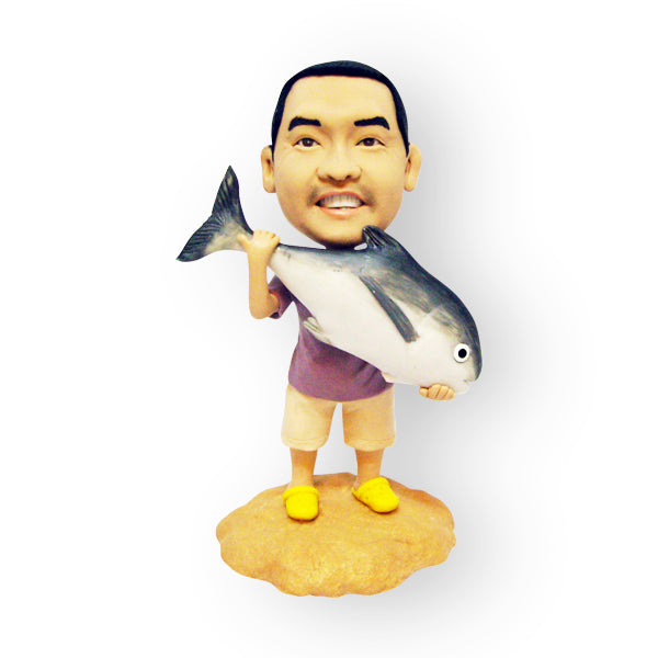 Big Fish Catch Custom Design Figurine