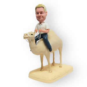 Riding A Camel Personalised Mini Figurine