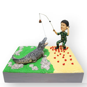 Fishing With The Crocs Personalised Mini Figurine