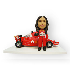 F1 Formula Race Car Driver Figurine