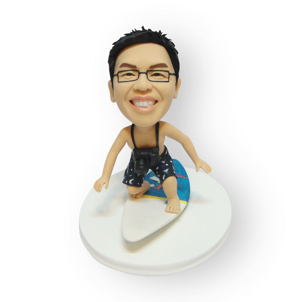 Surfing The Wave Custom Figurine