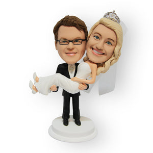 Across The Threshold Figurine Wedding Cake Topper