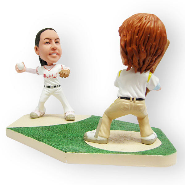 Baseball Couple Figurine