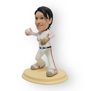 Female Baseball Player Figurine