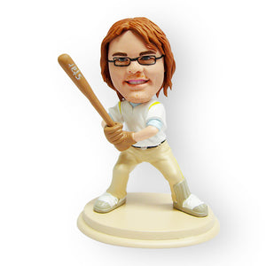 Male Baseball Player Figurine