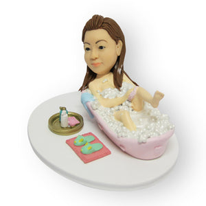 Relaxing in a Bathtub Figurine