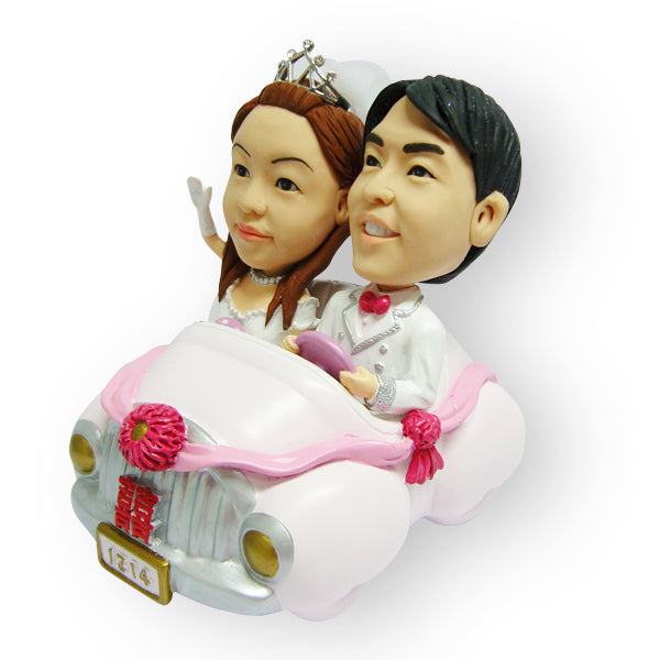 Chinese Bridal Car Wedding Cake Topper Figurine