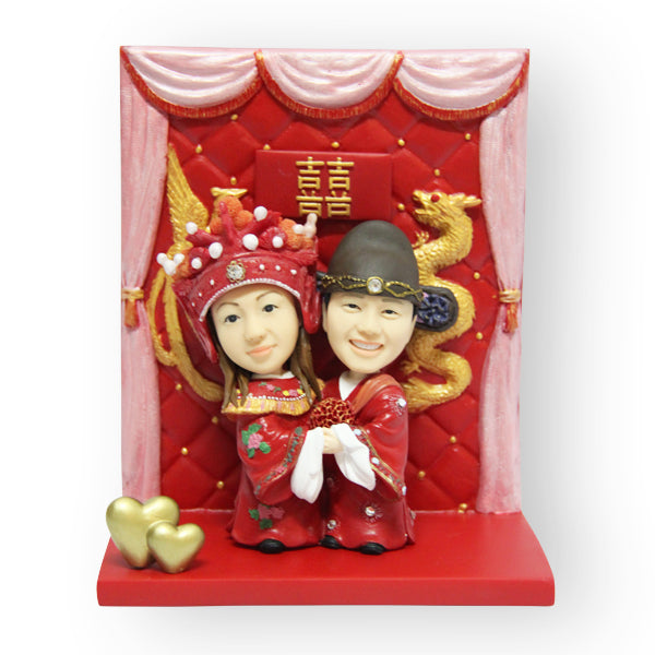Chinese Wedding Cake Topper Figurine