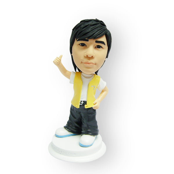 Cool Dude In A Vest Figurine