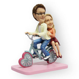 Couple on a Bike Figurine