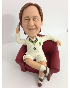 Cricket Fan On The Couch Custom Figurine