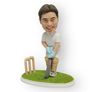 Cricket Player Figurine