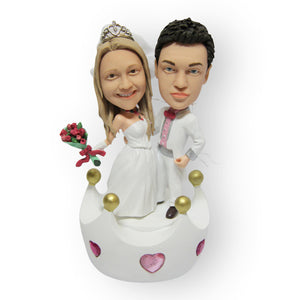 Newly Crowned Husband & Wife Wedding Figurine