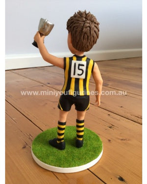 Holding Up The Trophy Custom Footy Figurine