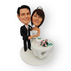Cutting The Wedding Cake Topper Figurine