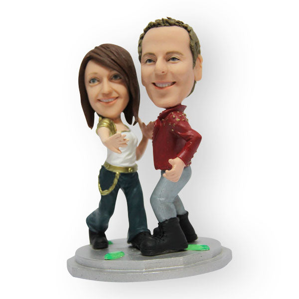 Dancing Boogie Couple Figurine