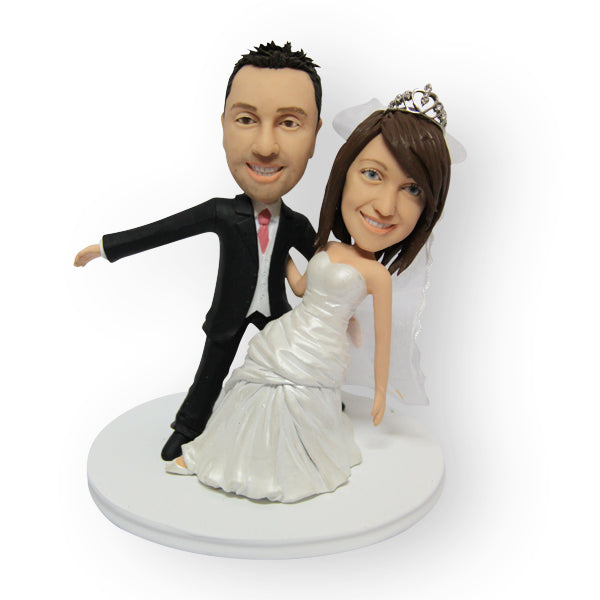 Dancing Wedding Couple Cake Topper Figurine