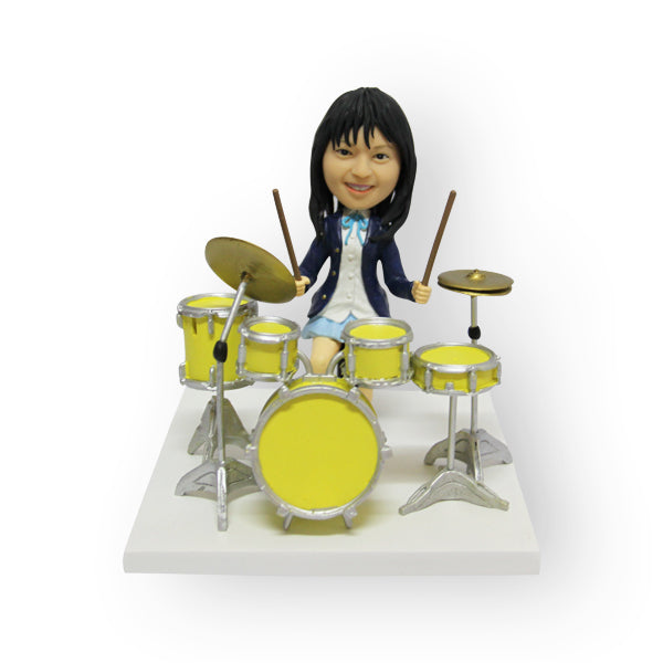 Female Drummer Figurine