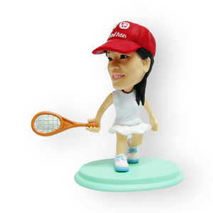 Female Tennis Player Figurine
