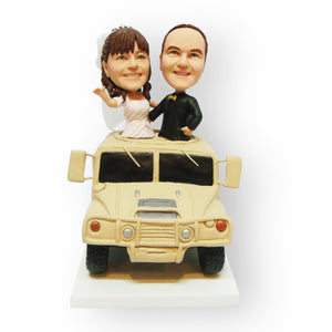 Hummer Wedding Cake Topper Figurine