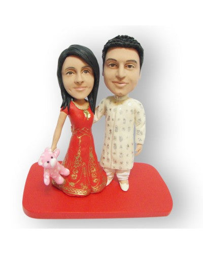 Traditional Indian Couple Custom Figurine