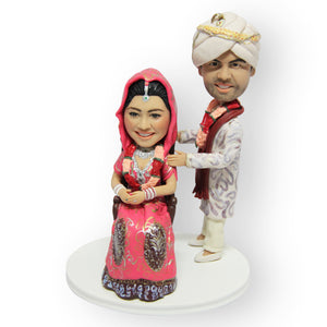 Indian Wedding Cake Topper Figurine